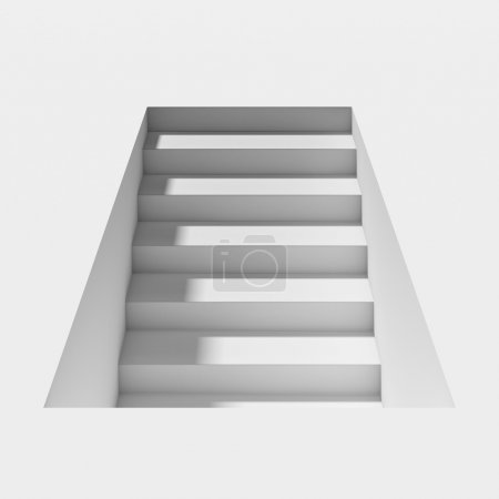 White staircase with shadow