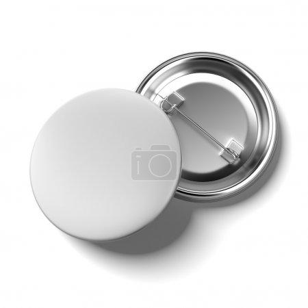 Photo pour Badges vierges isolés sur fond blanc. 3d rendu - image libre de droit