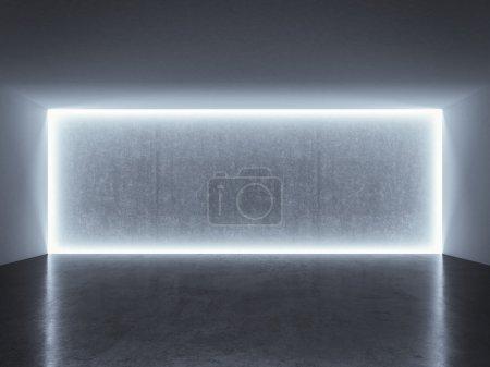 Backlit photo studio wall