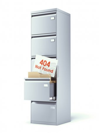 File cabinet with error