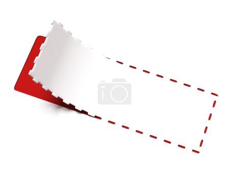 Photo pour Coupon publicitaire isolé sur fond blanc. 3d rendu - image libre de droit