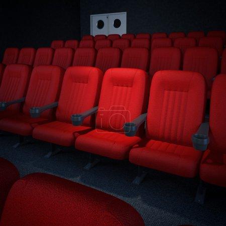 Empty cinema or theater auditorium