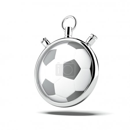 Stopwatch with soccer ball
