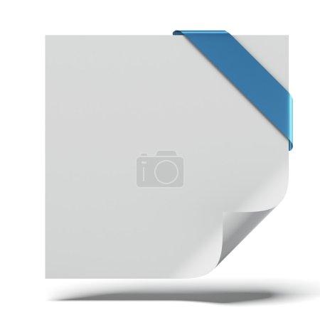 Photo pour Feuille de papier incurvé isolé sur fond blanc. rendu 3D - image libre de droit