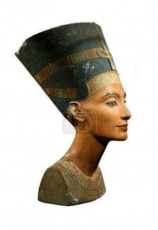 Queen Nefertiti Isolated on White