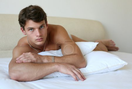 Sexy Man on the Bed