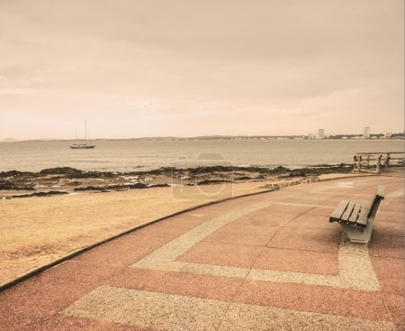 Lonely Boardwalk in Punta del Este
