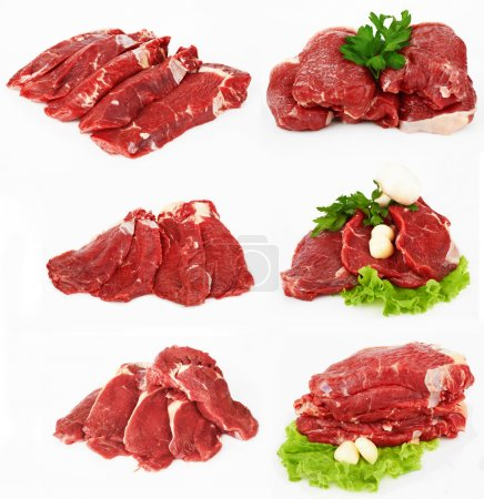 The piece of raw fillet steak
