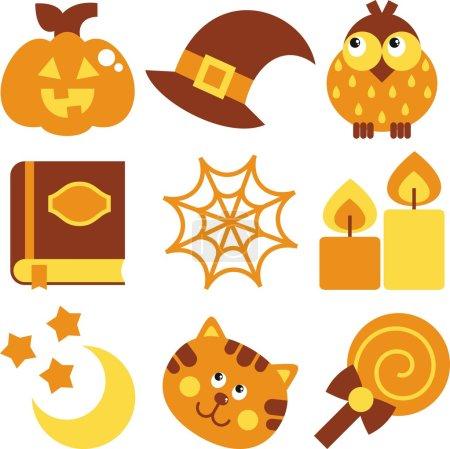 halloween set illustration