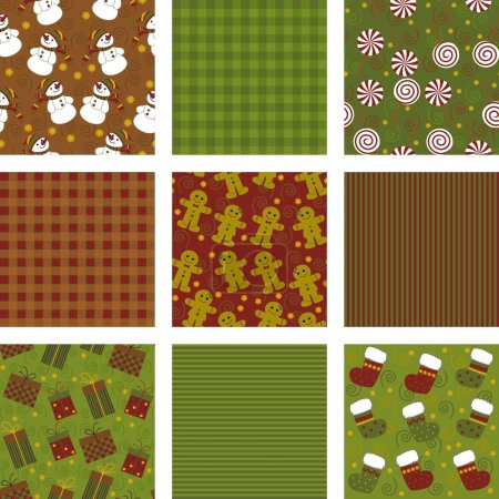 Set of backgrounds for scrapbooking, merry christmas