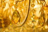 Beautiful yellow chandelier