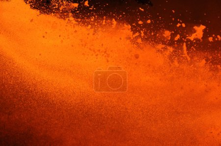 Photo for Outburst of boiling metal - Royalty Free Image