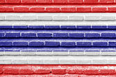 Costa Rica flag on an old brick wall