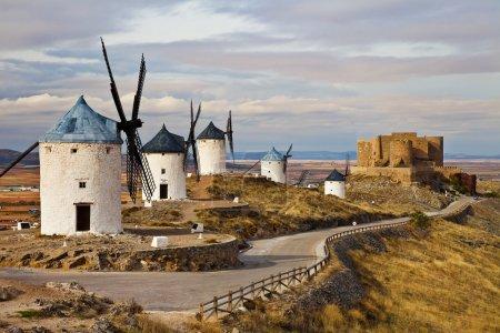 traditionnel Espagne - moulins à vent de don Quichotte