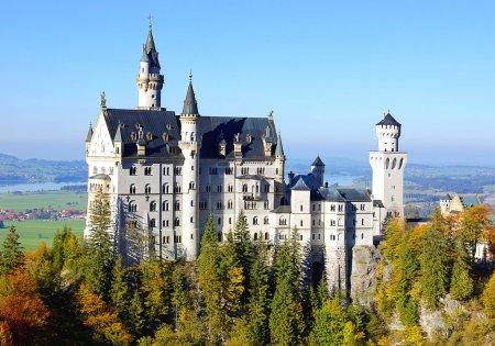 Photo pour Incroyable château Neuschwanstein Allemagne - image libre de droit