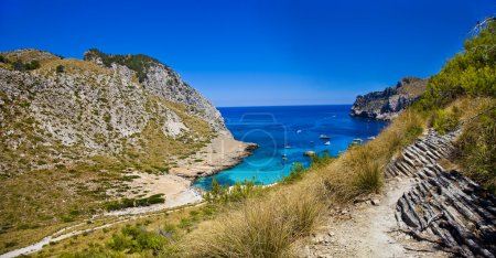 Amazing Mallorca - picturesque turquoise bay. Formentor cape