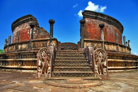 Ancient Polonnaruwa temple - medieval capital of Ceylon,UNESCO World Heritage Site