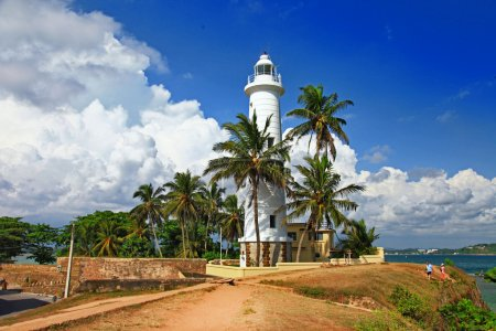 Photo for Pictorial view of light houe - Galle fort (Sri Lanka) - Royalty Free Image