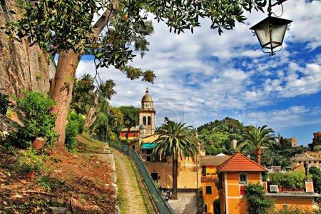 Photo pour Portofino pictural - village de luxe de la côte ligure, Italie - image libre de droit