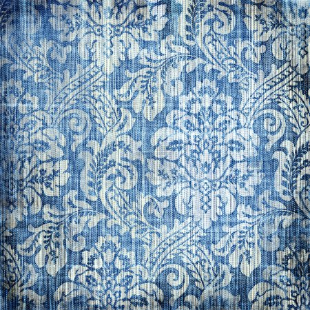 Photo for Shabby denim texture with classy patterns - Royalty Free Image