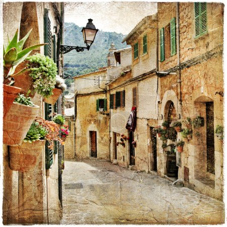 Photo for Charming streets of old mediterranean towns - Royalty Free Image