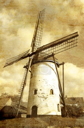 Windmill - toned picture in retro style