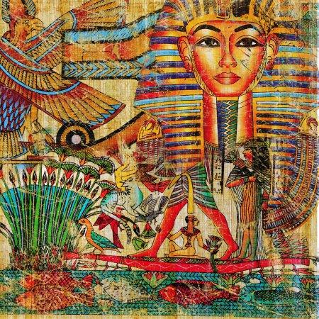 Photo pour Fond Vintage style égyptien - image libre de droit