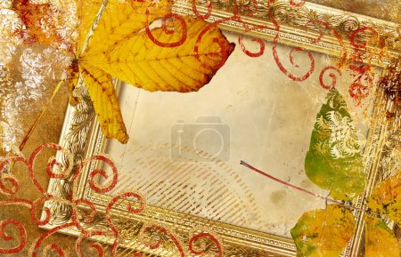Artistic autumn background