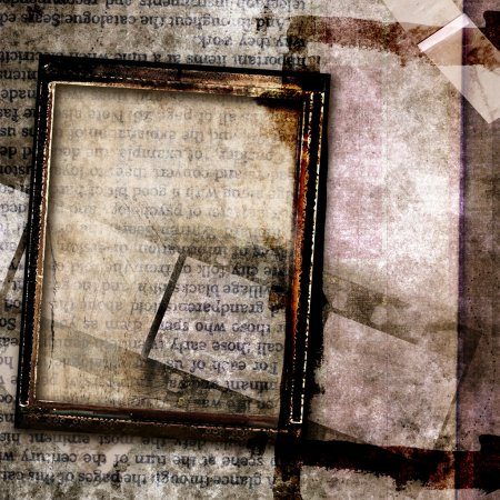 Grungy abstraction with frames