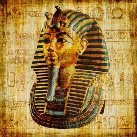 Photo pour Papyrus égyptien avec pharaon - image libre de droit