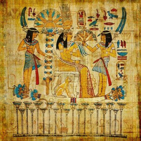 Photo pour Ancien papyrus égyptien - image libre de droit