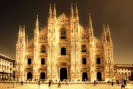 Milan cathedral - italian landmarks series-artistic toned picture