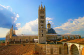 Beautiful medieval city in Tuscany Siena - view of famouse Duomo