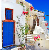 White - blue Santorini - traditional architecture
