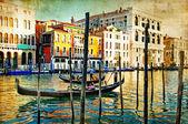 Romantické Benátky - kresby ve stylu malování