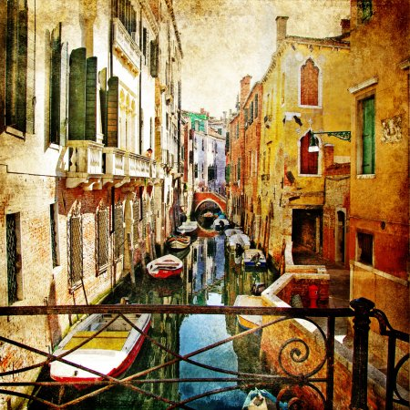 Photo for Amazing Venice - artwork in painting style - Royalty Free Image