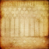 Old paper background with gothic printed elements