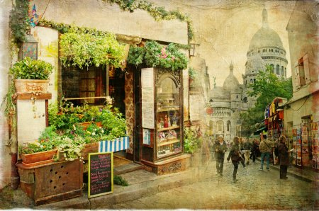 Photo for Parisian streets - Montmartre - Royalty Free Image