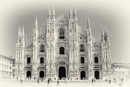 Milan cathedral - italian landmarks series