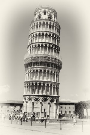 Pisa tower - italian landmarks series