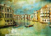 Amazing Venice - artwork in retro style