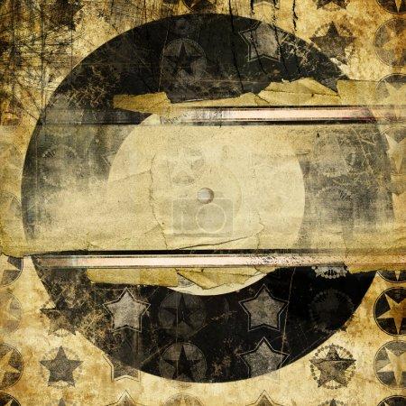 Photo pour Grungy fond musical avec place pour le texte - image libre de droit