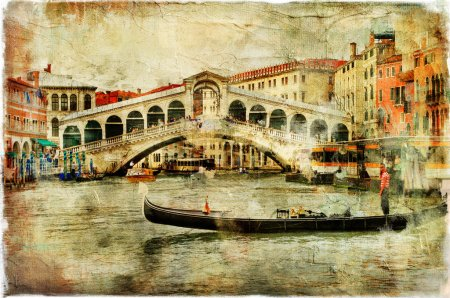 Photo for Venice, artwork in painting style - Royalty Free Image