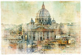 Vatikán - ve stylu retro obrázek