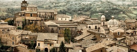 View over Orvieto, a medieval hill town in Umbria, Italy