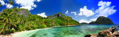 Photo pour Panorama des îles tropicales, El- nido, Philippines - image libre de droit