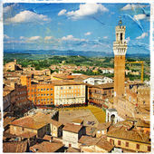 Pictures of Italy - Siena - artistic retro style