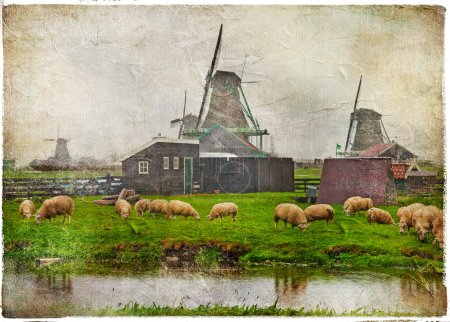 Traditional old Holland - retro picture