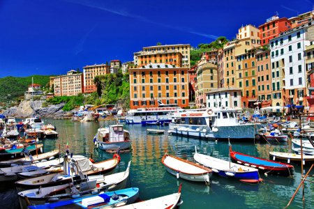 Colorful Camogli, Ligurian coast, Italy