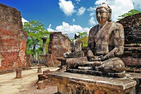 Buddha in Polonnaruwa temple